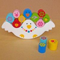baby balance beam - Montessori teaching AIDS babies early bird blocks the balance beam children s toys wooden educational toys