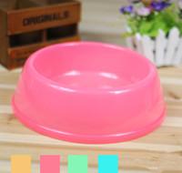 Wholesale BOBO Brand Translucent Plasti Bowl Good Quality Pet Dog Cat Bowl Dog Dish Pink Blue Green Yellow Color Large Size Pet Supplier