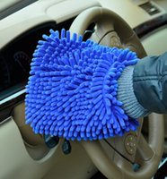 Wholesale Snow Neil fiber Single coral type high density wash mitt Clean Cloths Household Cleaning Tools gloves towel in stock