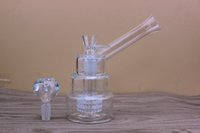 layer cake - Three layer cake MM joint Bubbler Hand Blown Glass bongs Vase Perc Percolator Water Smoking Pipe