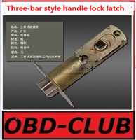 bar latch - Universal Triple Rod ball lock latch three bar style handle lock Transmission rod aluminum plastic door latch