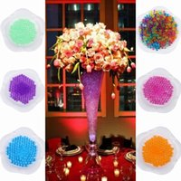 Wholesale 120 pieces Crystal Plant Flower Soil Beads Absorbing Water Beads Crystal Magic Beads For Garden Planting ZVO