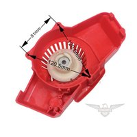 Wholesale 2015 Chinese E40F Pull Start Recoil Starter W Fly Wheel for cc Grass Brush Cutter Drop Shipping