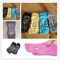 Wholesale 1Pairs Fashion Cotton Women Fitness Yoga Socks Five Toes No Slip Sock Lovely Sports Socks White Massage Dots Colors dp675818