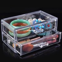 plastic storage shelf drawers - Quality transparent cosmetic storage box plastic drawer shelf cabinet desktop storage rack