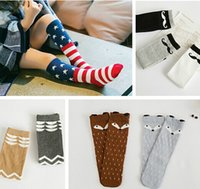 cartoon children socks - Fox Socks Baby Socks Autumn Winter Knee High Cartoon Sock Children Middle Animal Socks Footwear Baby Leg Warmers Girl Legging Socks