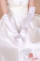 accessories reports - Atmospheric hot models white double bow long section has been reported that Ms gloves bride wedding dress gloves accessories HY00195