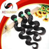 Wholesale XCSUNNY a Human Hair Weaves Body Wave Cheap Brazilian Hair Weaves Brazillian Hair Virgin Hair Extensions Remy Hair Weaves