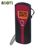 Wholesale digit Display Backlight LCD Breath Alcohol Tester Portable Breathalyzer S Alcoholimetro Car Gadget Alcool Detector Parking