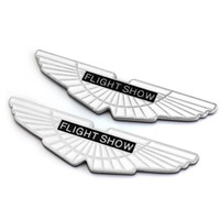 auto show logo - 3D Chrome Metal Napoftheearth Flight Show Car Sticker Emblems Decoration Flying Birds Logo Auto Exterior Car Badges Styling Accessories