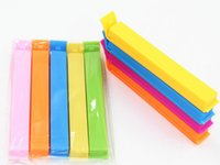 plastic trash bags - Colored Plastic Bag clip Plus size Sealer up for food flavoring trash pack Kitchen accessories Novelty household