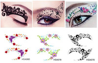 Wholesale Beautiful Eyes Stickers Party Eyebrow Eyeshadow Stickers High fit Makeup Eyes Decal Jewelry Styles