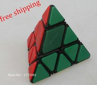 Wholesale CubeTwist Bandage Pyraminx black magic cube Tetrahedron magic cube Color plastic patch Educational toy