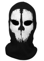 Wholesale Call of duty balaclava ghost full face mask skull mask CS Game fitted hat men women raiders fleece beanie winter