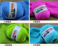 hand knit baby sweater - 500g bag g ball balls bag Silk fiber Lamp wool Cashmere Yarn Baby sweater hand knitting yarn embroidery thread mm needle