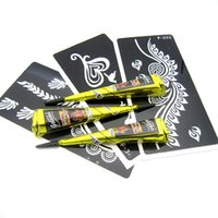 henna tattoo - Brown Black Indian Henna Tattoo Paste Henna Tattoo Stencils Henna Tattoo Cream Templates Tatoo Design Body Paint