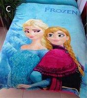 Wholesale Fashion Hot styles Frozen Blanket Children Cartoon Sleeping Quilt Travel Blanket Snow Queen Elsa Anna Coral fleece blanket cm
