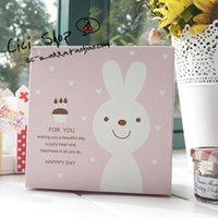 apparel packaging supplies - 30pcs Cute Pink Rabbit Bakery Gift Box Cupcake Cake Packaging Supplies
