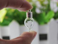 achat en gros de fiole en verre en forme de larme-10PCS 6MM Tear Drop, pendentif de riz, pendentif en verre flacon, pendentif bouteille de parfum