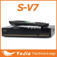 Receivers digital satellite receiver tv receiver - Original V7 Digital Satellite Receiver S V7 S V7 with AV output VFD Screen Support xUSB WEB TV USB Wifi Youporn CCCAMD NEWCAMD
