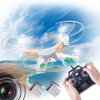 Wholesale Syma X5C X5C RC Helicopter Quadcopter Gyro G Axis Channels UFO M Pixel Camera Drones with Romote Controller UVA LED GB DHL Free