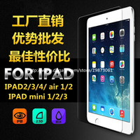 Wholesale 0 mm Tempered Toughened Glass Film Screen HD Protector For iPad ipad mini Ipad air Without Retail Package