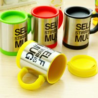 Wholesale Automatic Electric Self Stirring Mug Coffee Mixing Drinking Cup Stainless Steel ml black color Self Stirring Coffee Mug