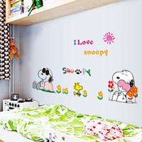 bedroom wardrobes design - Wall stickers home decoration AY7138 cute Snoopy cartoon children s room wall stickers stickers self adhesive painting cute dog wardrobe