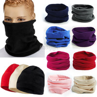 Wholesale Unisex Fleece Thermal Snood Hat Neck Warmer Ski wear Scarf Beanie Balaclava fx273 Freeshipping