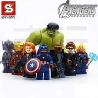 Wholesale opp packing Sets Minifigures Avengers Age of Ultron Building Toys Hulk Iron Man Thor ko