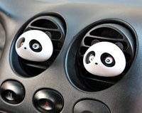 air free pandas - New Car Styling Air Freshener Car Air Conditioning Vent Perfume Panda Eyes Will Jump Colors CAR