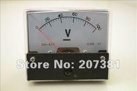 Оптово-1 PCS Аналоговый Вольт Напряжение Вольтметр метр панели DC 0-100V *