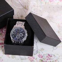 Wholesale Luxury Paper Watch Packing Boxes Jewelry Gift Packaging Supplies Red Black Blue Available