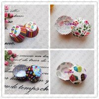 Wholesale Hot Mini size Assorted Paper Cupcake Liners Muffin Cases Baking Cups cake cup cake mould decoration cm base