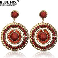 big earrings - Vintage Bohemian Round Hollow Alloy Big Earrings For Women Can Be Mixed Batch pf