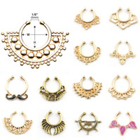 Wholesale Over kinds of products Crystal Fake Nose Ring Faux septum rings Piercing Body Jewelry Hoop For Women
