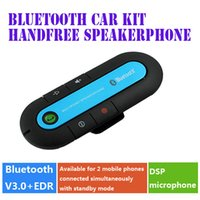 Wholesale Hot Selling Wireless Bluetooth Car Kit Multipoint Handsfree Speakerphone Car Speaker Kit With Car Charger Sun Visor Clip