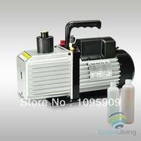 air conditioning vacuum - 9CFM Two Stages HP Refrigeration Vacuum Pump Air Conditioning Oil Bottle