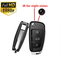 Wholesale FHD P Spy Cam Car Key Hidden Camera MINI DV DVR IR Night Vision Motion Detection MINI Video Camcorder