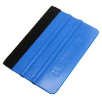 Wholesale New Car Squeegee Decal Wrap Applicator Soft Felt Edge Small Square Plastic For Auto Home Window Glass Stickers Scraper Tools