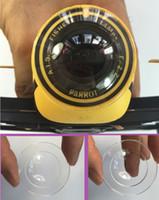 Wholesale 100pcs top quality transparent resin Camera lens shield cap for Parrot Bebop drone