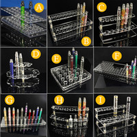 acrylic holder - Acrylic display stand vape e cig mod standing shelf holder racks for ego battery vaporizer drip tips e liquid bottle atomizer ecig display