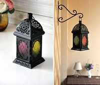 Wholesale Mediterranean nostalgia Iron Candlestick Iron lantern Home Decoration wedding supplies ornaments