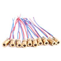 Wholesale 10pcs Laser Diode Module Red Laser Diode Circuit V Module Head nm Diy Laser Machine Parts Laser Tube