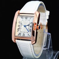 Wholesale A piece Fashion Women Watch Famous brand High Quality Wristwatch Rose Gold with white leather Band Female Quartz watches