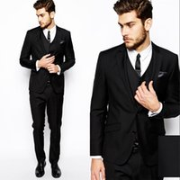 Dresses Leather jacket Custom Made Mens Fashion Wedding Morning Groom Tuxedos Business Prom Cheap 3 Piece Jacket Pants Vest