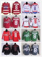 jersey shop - Washington Ice Hockey Capitals Jerseys Ovechkin blue red green white black drop shopping freeshipping