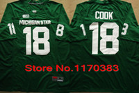 michigan - Factory Outlet New Style Men Michigan State Spartans NCAA College Football Jersey Connor Cook Jersey white green Color