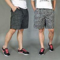 big boardshorts - 2015 New Summer Big Men s Clothing Shorts Plus Size XXXL XL XL XL Male Army Side Pockets Beach Plaid Boardshorts