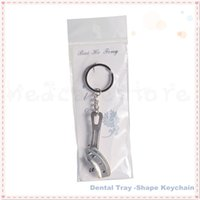best packing materials - NEW pack Best Quality Stainless Steel Material Dental Tray Shape Mini Dentist Gift Key Chain Ring